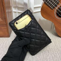 Famosa marca de moda de alta qualidadeSaco de telefone celular Titulares de Cartão de linha de terra bolsa de longo zíper bolsa de lona bolsa de luxo de
