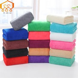 Wholesale Large Microfiber Cloths - 19 Colors 180x80cm Microfiber Beach Towel Supersoft Bath Towel Sport Towel Gym Fast Drying Cloth Beauty Salon Bed Large Hot Sale