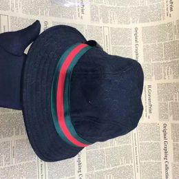 Wholesale sun hats for sale - Brand Designer Leather Letter Bucket Hat For Mens Womens Foldable Caps Black Fisherman Beach Sun Visor Sale Folding Man Bowler Cap