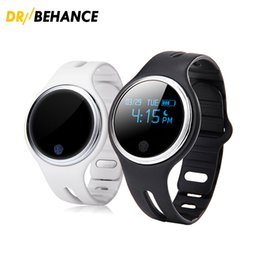 Wholesale Vehicle Shipping Rates - 2018 high quality E07 sports bracelet waterproof anti-lost smart bracelet, pedometer, call reminder, smart watch free shipping