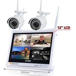 2CH 1080P 2MP Sistema di telecamere IP CCTV di sicurezza wireless NVR Monitor LCD Registrazione audio Kit di videosorveglianza Wi-fi Set Nanny HD da