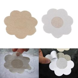 Wholesale Bare Lift - 5 Pairs set breast stickers New Bare Bring Up Lifts Push Instant Breast Bra Nipple Cover Chest paste Petals