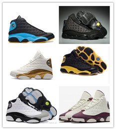 Wholesale woman love drops - New 13 XIII Mens Basketball Shoes GS Love Respect Black white Chutney Low 13s Green Women 2018 Sneakers Drop Shipping US5.5-13