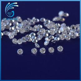 H près de couleur blanche 50pcs / pack 0.8mm forme ronde moissanites perles de pierre en vrac pour la fabrication de bijoux prix de détail ? partir de fabricateur