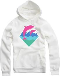 2019 sudaderas rosas delfines Diseñador para hombre con capucha Dolphin Pink impreso Casual Hoodies para mujer para hombre de manga larga sudaderas hombre mujer Pullover sudaderas rosas delfines baratos