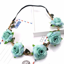 Moda Rose Flower Headband Headwear Festal Decoration Gifts Photo Puntelli Girl Elastic Hairbands Coreano Floral Accessori per capelli Copricapo da