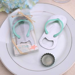 beach wedding favor bottle opener Promo Codes - New Creative Wedding Party Favor Gift Household Supply Flip Flop Beach Thong Bottle Openers Slippers Design Beer Bottle Opener 79