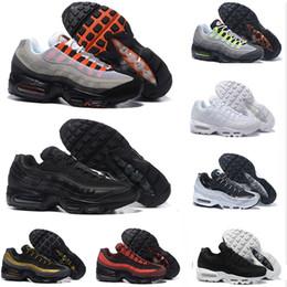 wholesale dealer 553de fc9d9 Nike Air Max 95 Airmax DROP Versand Großhandel Natur Laufschuhe Männer  stärkeres Kissen 95 OG Sneakers Authentic 95s Neue Outdoor Sportschuhe Größe  36-46 ...