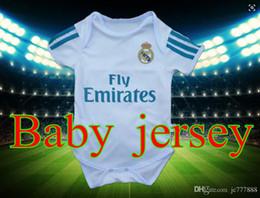 Wholesale Football Jerseys Babies - New Camisetas de Futbol Baby Ronaldo Jerseys voetbal tenues 2018 Real Madrid bambinos baby youth football jerseys 2017 2018