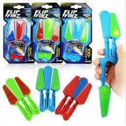 Wholesale Led Fingers - Flip Finz LED Light Fidget Spinner Plastic Rotating Flail Finger Hand Toys Spin Stress Relief EDC Gift OOA4809