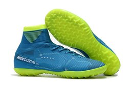Wholesale Indoor Soccer Sneakers - Dicks Sporting Good Mercurial Superfly V SX Neymar TF Soccer Cleats Indoor Shoes For Football Sneakers CR7 High Ankle Men Soccer Shoes