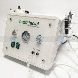 Équipement de dermabrasion en Ligne-3in1 portable Diamond Microdermabrasion beauté machine oxygène soins de la peau Eau Aqua Dermabrasion Peeling hydrafacial SPA équipement