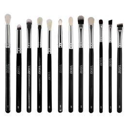 Make-up pinsel set real online-YAVAY 12 STÜCKE Luxus Professionelle Komplette Augen Make-Up Pinsel Set Lidschatten Eyeliner Blending Pencil Make Up Pinsel Real Photo