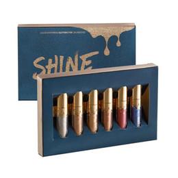 Kit de esmalte on-line-BEAUTY GLAZED 6 pçs / set Líquido Batom Lip Gloss Professional Maquiagem Matte Batom Lip Kit Longa Duração Cosméticos Maquiagem