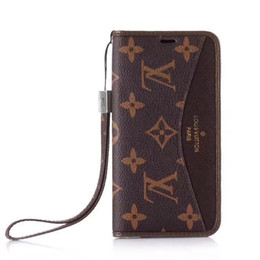 Top quality marca de luxo telefone capa de couro para iphone x xr xs max iphone 6 6 plus 7 7 plus famosa marca phong couro case para iphone 8