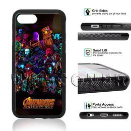 2019 jolie couverture d'iphone Avengers Infinity War Marvel Pretty Téléphone Case Thanos Pour iPhone iX i8 i8Plus i7 i7 + i6 i6s SE T6 Couverture jolie couverture d'iphone pas cher