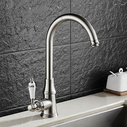 bronze polishing 2018 - New Arrival hot and cold single lever hot and cold kitchen faucet Swivel antique bronze Kitchen mixer Water tap sink faucet