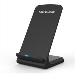 Wholesale Blackberry Charging Stand - Qi Wireless Charger For Iphone X 8 8Plus Fast Charging 2 Coils Wireless Charger Stand For Samsung S8 S8Plus With Retail Package