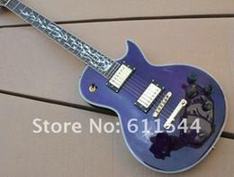 Wholesale Custom Flame Fingerboard Guitars - Custom Shop Newest Purple Solid Les Custom Electric Guitar Flame Fingerboard Free Shipping