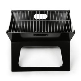 Wholesale Travel Bbq Grill - LightbyBox Charcoal Grill, Portable Mini Hibachi grills for Kitchen Backyard Outdoor Cooking BBQ Barbecue Tool Sets Black