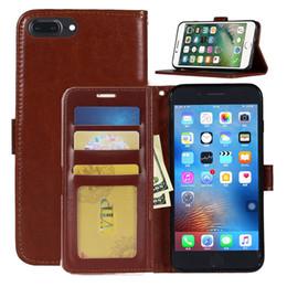Sumsung 5s online-Custodia portafoglio in pelle flip Custodia in pelle PU Custodia portafoglio posteriore con slot per schede per iPhone X 8 7 6 6S Plus 5 5s Sumsung S8 S7 Plus