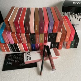 Wholesale Lipstick Making Set - Kylie Jenner Lip Kit Gloss Liner Kits Make Up Matte Liquid Lipstick Sets Velvetine Red Velvet Makeup Cosmetics 3001163