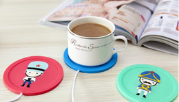 Wholesale Coffee Cup Heater Usb - Silicone Coasters Cups Thermos pad USB Coffee Mug Heating cup mats USB Warmer Heater for Milk Tea Coffee Mug Free DHL