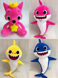 Wholesale wholesale sharks toys - Cartoon PinkFong Plush Toys Fox Toy Sharks Dolls Children Baby Animal Toys