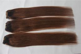 Canada Nouveau style européen Auburn Brun Couleur Vierge Cheveux Raides 100% Armure de Cheveux Humains 6a Non Transformés Double Trame Extensions de Cheveux supplier european straight hair extensions Offre