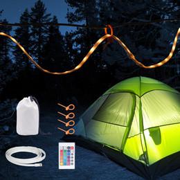 Controlador de luz de emergência led on-line-1.5 M RGB USB Strip Portátil LED Corda Luzes com 24 K Controlador para Camping, Caminhadas, Emergência, Camping Lanterna, Branco / WarmWhite