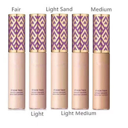 Corrector bronceado online-STOCK 5colors New Makeup Shape Tape Concealer contorno 5 colores / caja 10ml contorno corrector Fair Light Medium Tan Light arena Deep