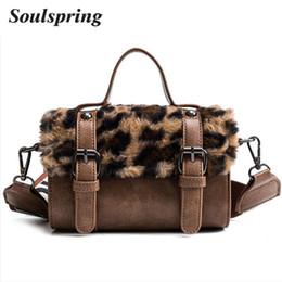 c27bb7d0a84d Women Messenger Bag Classic Leopard Handbag Fashion Leather Shoulder Bag  Lady Autumn and Winter Faux Fur Crossbody Bags For Girl