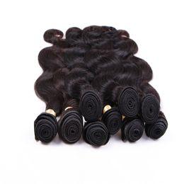 Wholesale Human Hair Weave Brands - Elibess Brand Body Wave Virgin Human Hair Extensions Brazilian 100 Human Hair Weave 100g pack