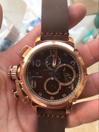 Canada Chronographe Or rose DATE pas cher DATE 49 MM CAS QUARTZ sport de luxe en gros hommes regarder nouvelle en acier inoxydable Mens montres cheap eyki watches Offre