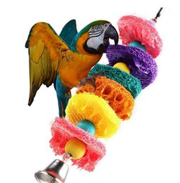 Wholesale Pet Parrot Supplies - Parrot bird cage toy birds bite toys plant toys supplies birdie colorful play tool pet supplies