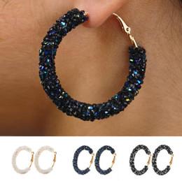 21a84c1f8cf3 2019 strass de moda Diseñador de la marca nuevos pendientes de aro mujeres  moda austriaco cristalino