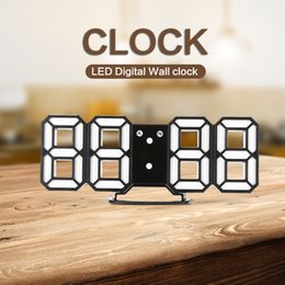 2019 новые светодиодные настенные часы Часы Настенные Часы DC - K3 3D LED Цифровые Настенные Часы Современный Дизайн Функция Сигнализации Ночник для Кухни Офиса Украшения Дома Новое Прибытие дешево новые светодиодные настенные часы