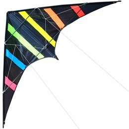Wholesale Kite Stunt - NEW Arrive 48 Inch Professional Dual Line Stunt Kite With Handle And Line Good Flying Factory Outlet