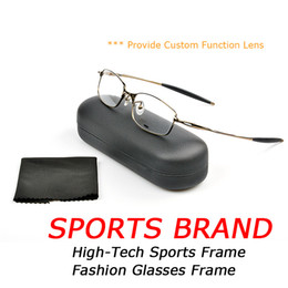 Wholesale Alloy Function - Ultralight Metal Optical Glasses Frame Fashion Mens Sports Glasses OK5050 Brand Designer Eyewear With box   Provide Custom Function Lens