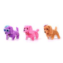 1 PCS Électrique Jouet Doux En Peluche Marche Glowing Barking Dog Drôle Simulation Déménagement Apaiser Bébé Jouets Pour Enfants 2018 ? partir de fabricateur