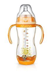 Делать соломинку онлайн-Термочувствительные молочные бутылки (A015); Изготовлено PPSU; Соломенная шариковая соломка Anti-Colic Соска Anti-Colic соломенная крышка.