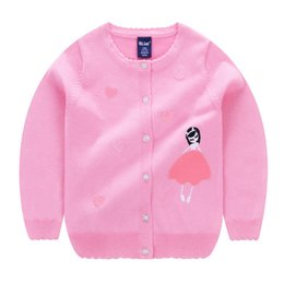 Wholesale heart sweater cardigan - Baby Children Clothing Girls Loving Heart Princess Knitted Cardigan Sweater Wear Kids Infant Newborn Clothes Outerwear Sweaters