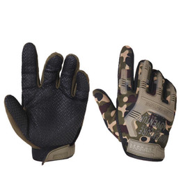 Wholesale gloves printing - Army Military Tactical Gloves Paintball Airsoft Shooting Combat Outdoor Sport Anti Slip Bicycle Knuckle Full Finger Gloves