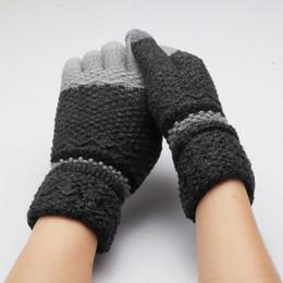 handschuhe taktisch grün Rabatt Damenhandschuhe Stricken Winterhandschuhe Wärmer Bunt Patchwork Vollfingerhandschuhe Fäustlinge Herren Guantes Screen Touchable Luvas