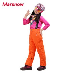 Wholesale Boys Warm Pants - Wholesale- 2017 Marsnow Snowboarding Pants Winter Thicken Boys Girls Kids Windproof Waterproof Warm Outdoor Sport Snow Skiing Trousers CP09