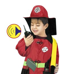 Wholesale Dress Up Set Kids - OBCANOE Fire Chief Role Play Fireman Costume Dress-Up Set for 90-130cm Kids Childrens for Parties and Role Play Games