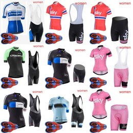Wholesale sky bike clothing - ORBEA SKY team Cycling Cycling Short Sleeves jersey bib shorts sets new women outdooor high quality Breathable Mountain Bike Clothes D1821