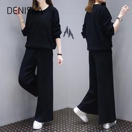 6c7c0f759 Deniska tamanho grande conjunto de roupas das mulheres das mulheres outono nova  gordura mm cobrir barriga tibetana carne fina perna larga calças casuais ...