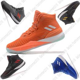 wholesale dealer 130aa e3d84  Mit Box  2018 adidas D ROSE MENACE High Band D Rose 8 Herren Schuhe  stricken Mesh Basketball Schuhe rot dunkelblau fluoreszierend grün schwarz  weiß Herren ...