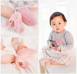 Wholesale Korean Infant - cute baby Infant girl Korean Bow Lace Flower prewalker Non Slip for Girls Toddler Newborn Children Slippers